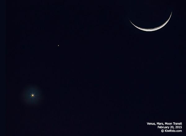 Venus-Mars-Moon Transit @ Los Angeles, CA