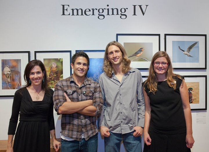 Emerging IV Artists: Sheri Mandel, Christopher Taylor and Neil Losin with Gallery Director, Jolene Hanson
